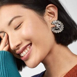 Crystal Round Statement Earrings